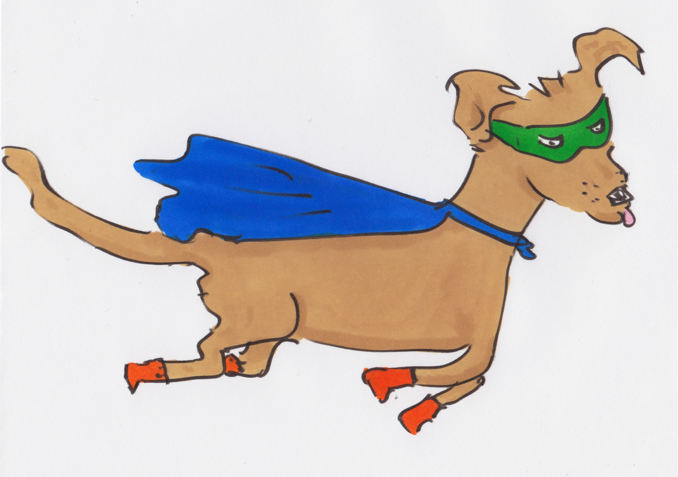 Today's dog is a flying superhero dog. Woof! Forever Alone Wallpaper